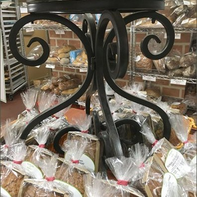 Sickles Oatmeal Cookie Wrought Iron Pedestal 2