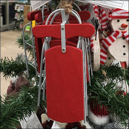 Snow Sled As Detailed Christmas Ornament
