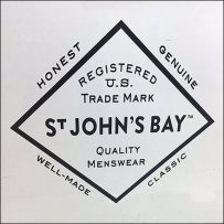 St. Johns Bay Branded Flannel Shirt Island