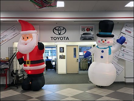 Toyotathon Christmas Sale Inflatables 1