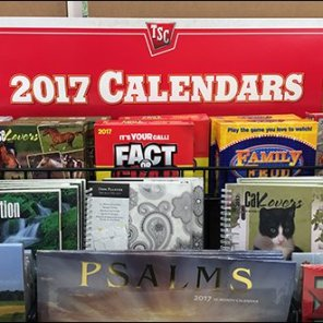 Tractor Supply 2017 Calendar Display