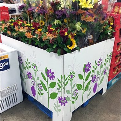 Warehouse Club Floral Pallet Display 2