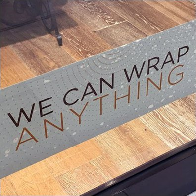 We Can Wrap Anything Merchandising Proposition