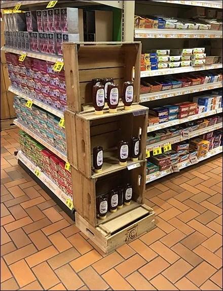 Wegman Organic Wildflower Honey Wood Crate