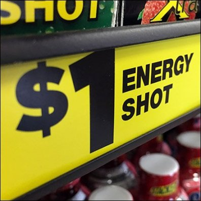 $1 Energy Shot PowerWing Promotion At Dollar General