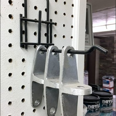 Heavy-Duty All-Wire Pegboard Backplate