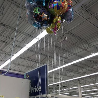Ring Hook As Helium Balloon Merchandiser