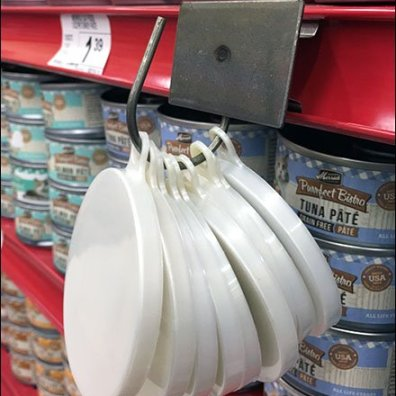 C-Channel Swing Hook For Pet Food Lids