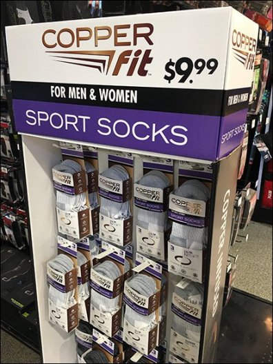 COPPER FIT SPORT SOCK DISPLAY 2