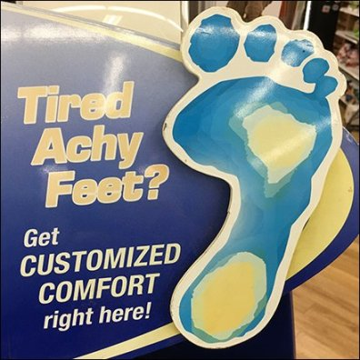 Dr. Scholl's Footmapping Custom Orthotic Center Feature