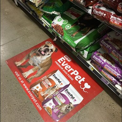 EverPet Dog Food Floor Graphic 5