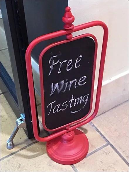 Free Wine Tasting Chalkboard Easel Door Stop
