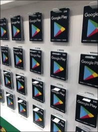 Google Play Analog Butterfly Hook Merchandising