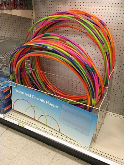 Hula Hoop Merchandising Rack For Gondola