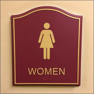 Humpback Womans Restroom Sign Plaque