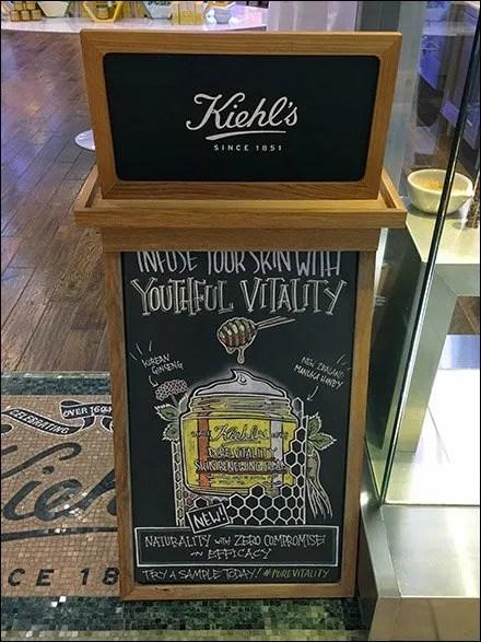 Kiehl's Youthful Chalkboard Easel Promise