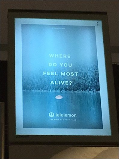 Lululemon Where You Feel Better Mall Advertising 3