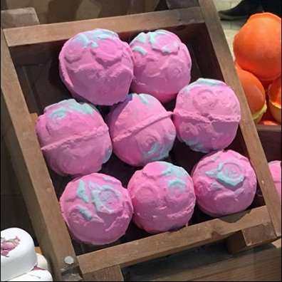 Lush Handmade Cosmetics Window Treats