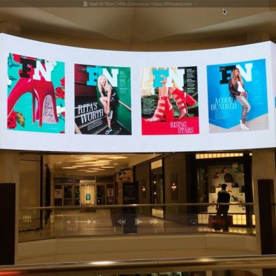 Mall at Short Hills Concourse Video Billboard 02