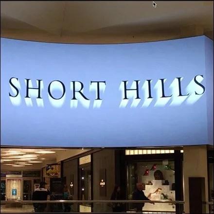 Mall at Short Hills Concourse Video Billboard - Short Hills Mall Retail Fixtures