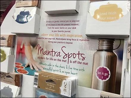 Mantra Spots Yoga Mantra Meditation Stickers Display