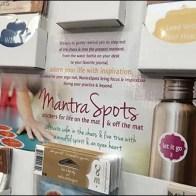 Mantra Spots Yoga Meditation Stickers Display