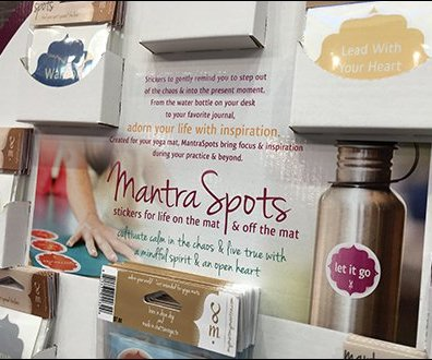 Mantra Spots Yoga Meditation Stickers Display
