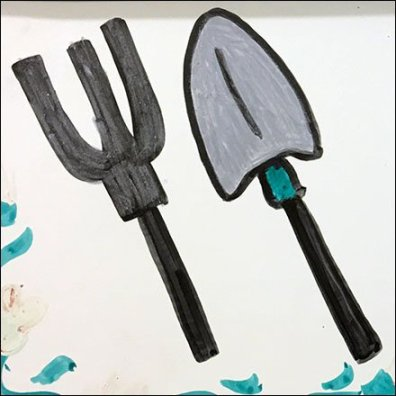 Hand-Lettered Category Definition In Garden Tools