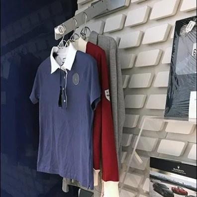 Maserati T-Shirt Waterfall On Custom Slatwall Concept