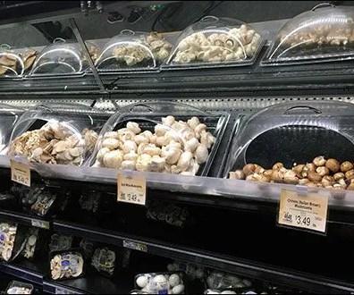 Fresh Mushroom Merchandising Via Individual Domes