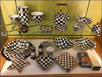 Checkered Biplane Tableware At Neiman Marcus