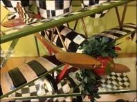 Neiman Marcus Checkered Biplane Tableware 3