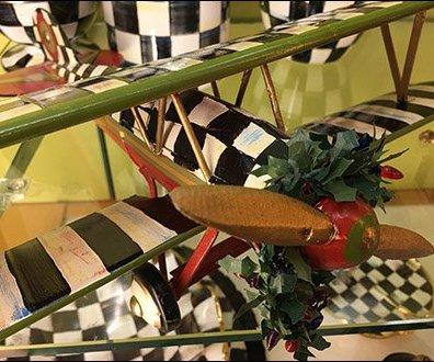Neiman Marcus Checkered Biplane Tableware 3