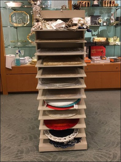 Napkin & Placemat Tower At Neiman Marcus