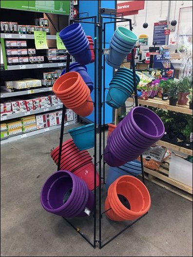 Potted Plant Pot Trapezoidal Tower Rack