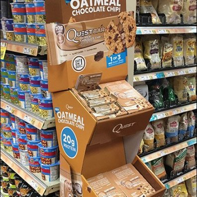 Quest Oatmeal Chocolate Chip Corrugated POP Display 2
