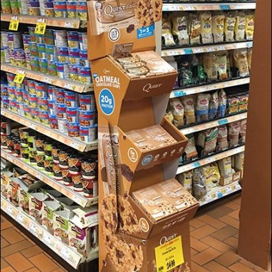 Quest Oatmeal Chocolate Chip Corrugated POP Display 3