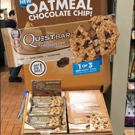 Quest Oatmeal Chocolate Chip Corrugated POP Display 5