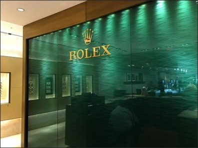 Rolex Wall Backdrop 2