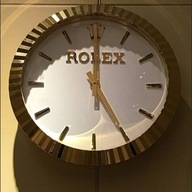 Rolex Watch as Branded Wall Clock