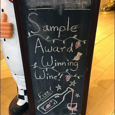 Sample Award Winning Wine Free Easel 2