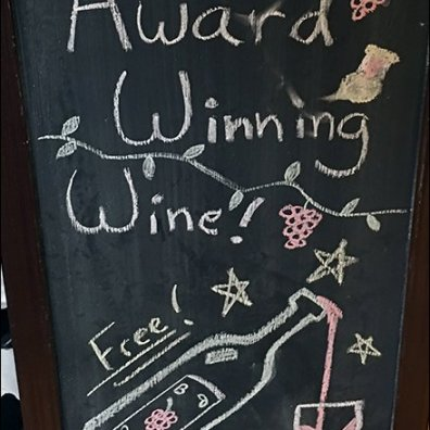 Sample Award Winning Wine Free Easel 3