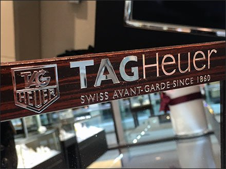 Tag Heuer Branded Table-Top Mirror