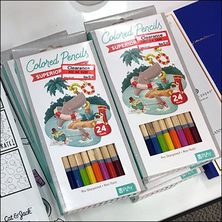 Art Class Coloring Book and Colored Pencil Cross Sell