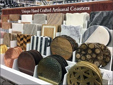 Artisanal Hand Crafted Coaster Stepped Display Rack 2