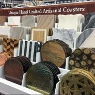 Hand-Crafted Artisanal Coaster Display Presentation