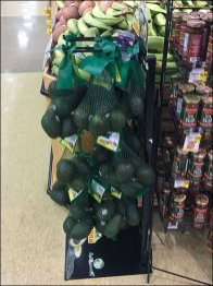 Avocado Mesh Bag Merchandising Rack 2