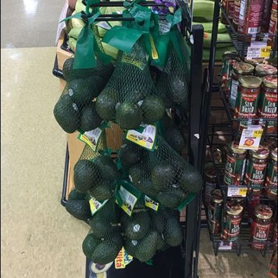 Avocado Mesh Bag Merchandising Rack 2