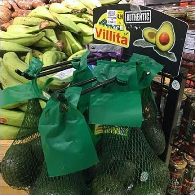 Avocado Twin Hook Mesh Bag Merchandising Square