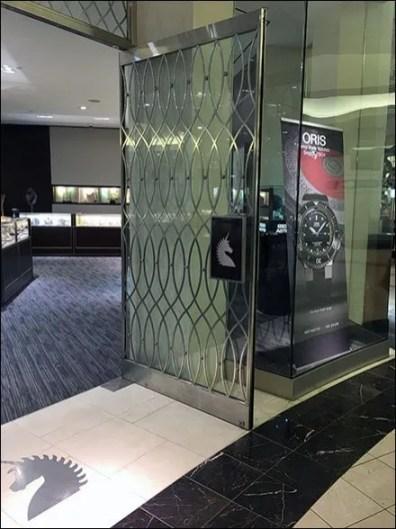 Bailey Banks and Biddle Door Handle Branding